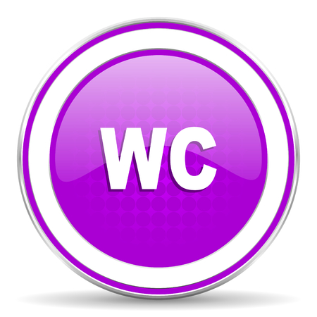 wc: toilet violet icon wc sign Stock Photo