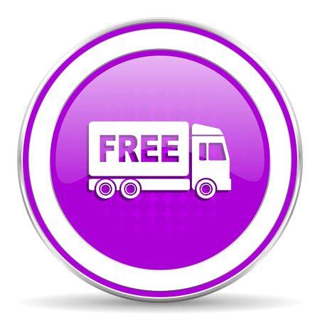 d�livrance: livraison gratuite violette signe de transport de l'ic�ne