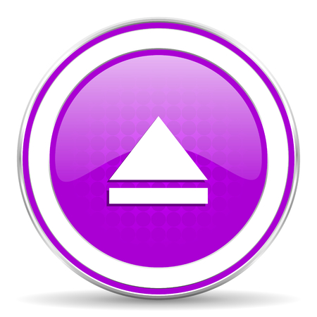 eject icon: eject violet icon open sign