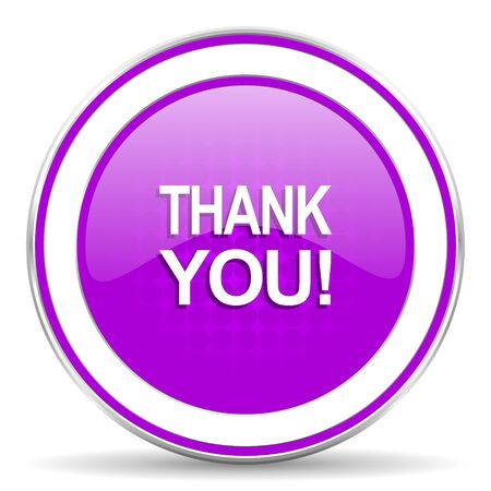 pushbuttons: thank you violet icon