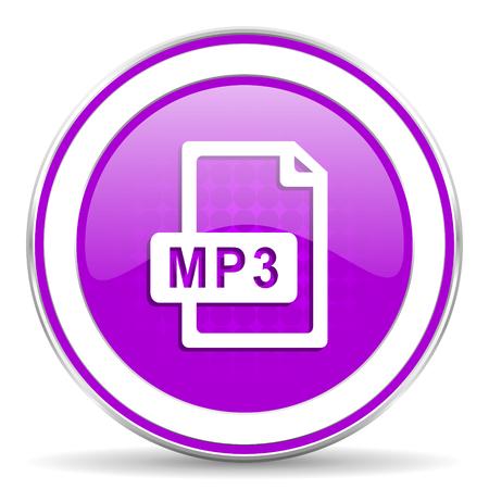 violet icon: mp3 file violet icon