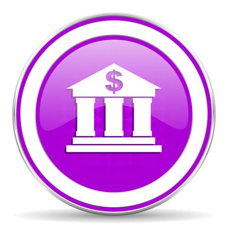 violet icon: bank violet icon