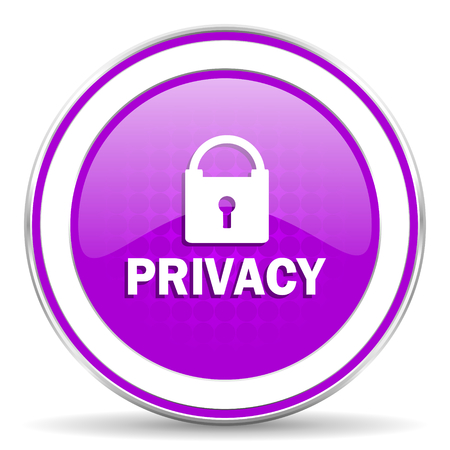 violet icon: privacy violet icon Stock Photo