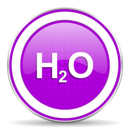 h2o: water violet icon h2o sign