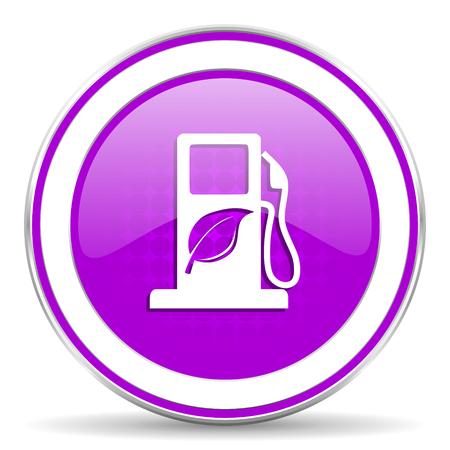 bio fuel: biofuel violet icon bio fuel sign Stock Photo