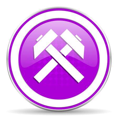 mine data: mining violet icon