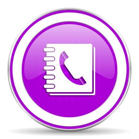 phonebook: phonebook violet icon
