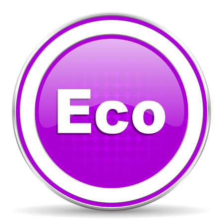 ecological: eco violet icon ecological sign Stock Photo