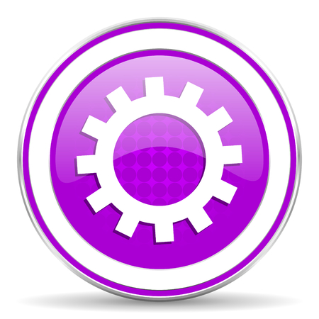 violet icon: gears violet icon options sign