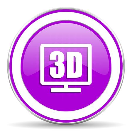 display: 3d display violet icon
