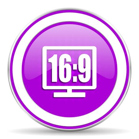 display: 16 9 display violet icon