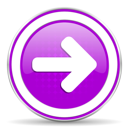 navigation panel: right arrow violet icon arrow sign