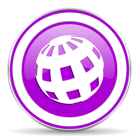 parallels: earth violet icon Stock Photo