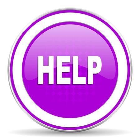violet icon: help violet icon