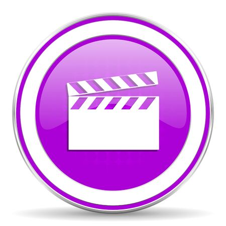video violet icon cinema sign photo