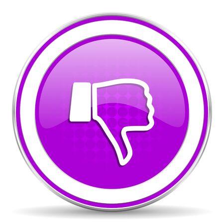 pulgar abajo: aversi�n icono violeta pulgar hacia abajo signo