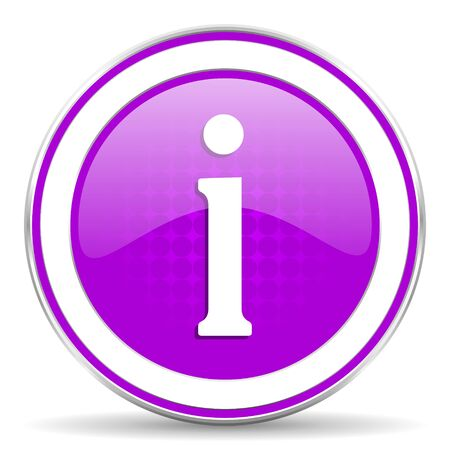 pushbuttons: information violet icon