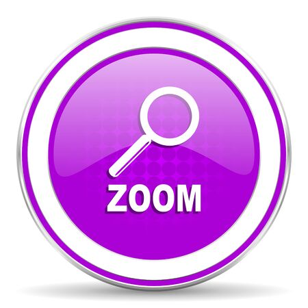 zoom: zoom violet icon
