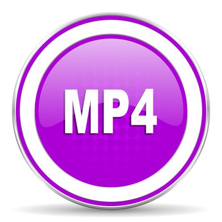 mp4: mp4 violet icon