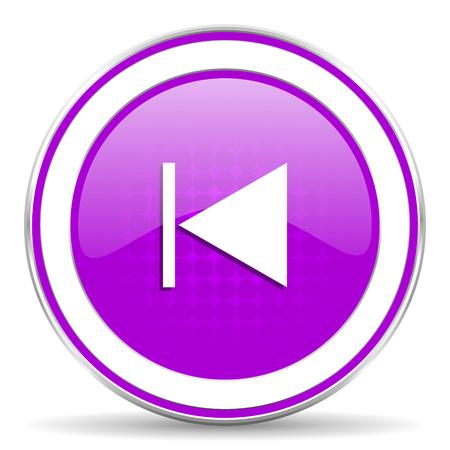 previous: previous violet icon