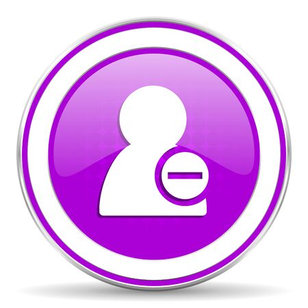 contact icon: remove contact violet icon Stock Photo