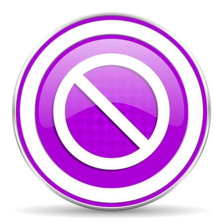 violet icon: access denied violet icon