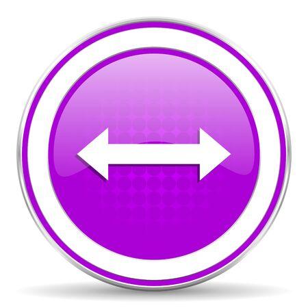sterring: arrow violet icon Stock Photo