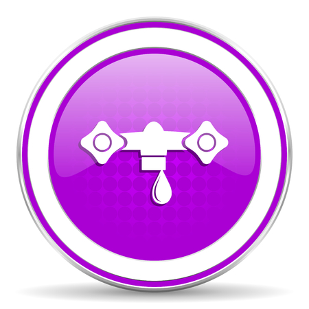 hydraulics: water violet icon hydraulics sign