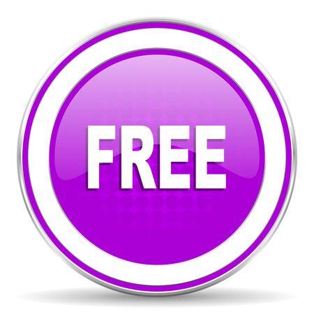 violet icon: free violet icon Stock Photo