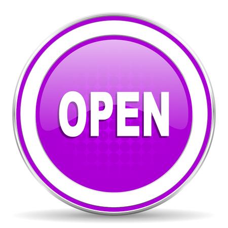 violet icon: open violet icon Stock Photo