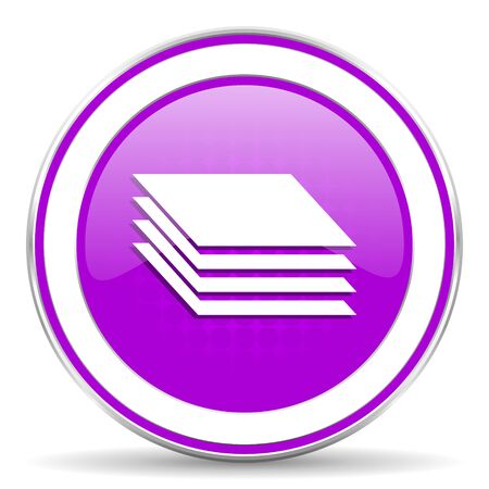 pushbuttons: layers violet icon gages sign Stock Photo
