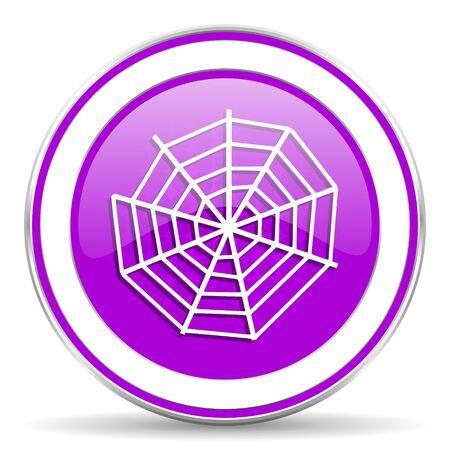 spider web: spider web violet icon Stock Photo