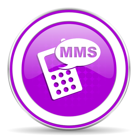 mms: mms violet icon phone sign