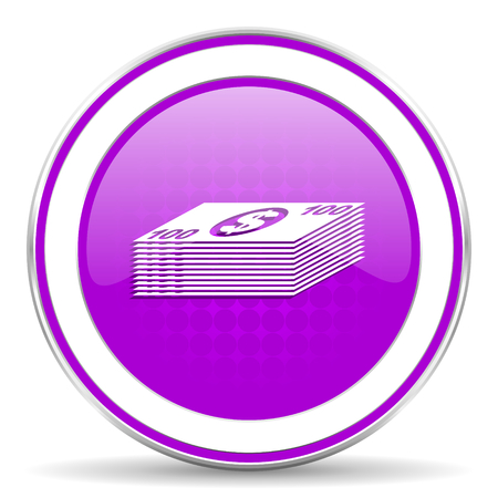 cash money: money violet icon cash symbol