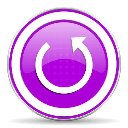 rotate: rotate violet icon reload sign