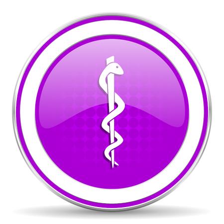 hospital sign: emergency violet icon hospital sign