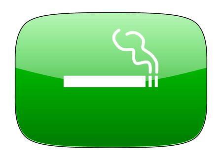 cigarette green icon nicotine sign photo