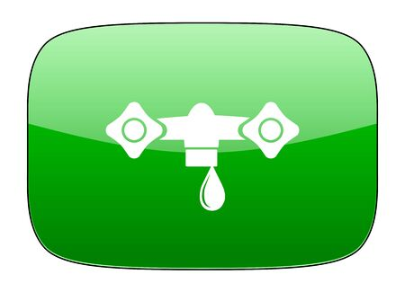 hydraulics: water green icon hydraulics sign Stock Photo