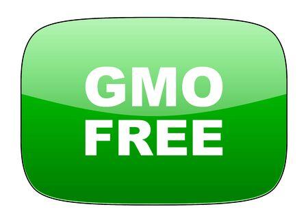 gmo: gmo free green icon no gmo sign Stock Photo