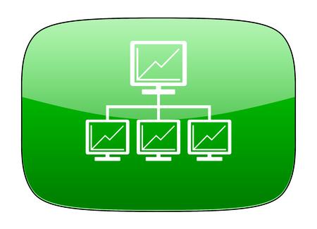 lan: network green icon lan sign