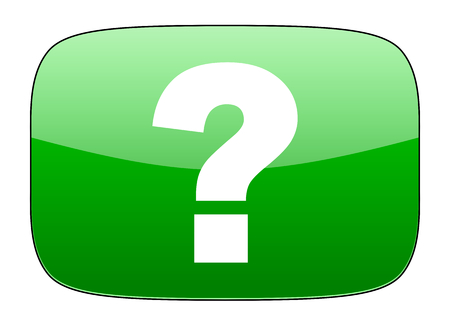 icons site search: question mark green icon ask sign