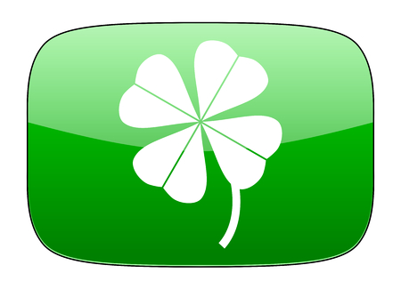fourleaf: four-leaf clover green icon Stock Photo