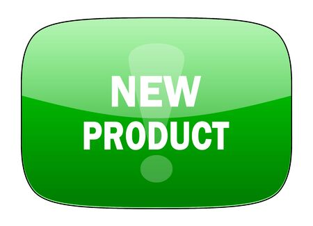 new product: new product green icon