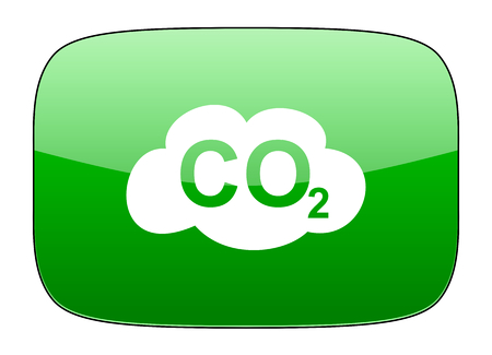 dioxide: carbon dioxide green icon co2 sign