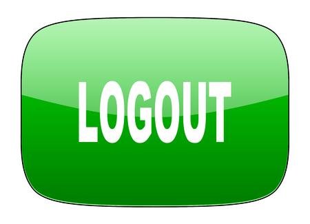 logout: logout green icon