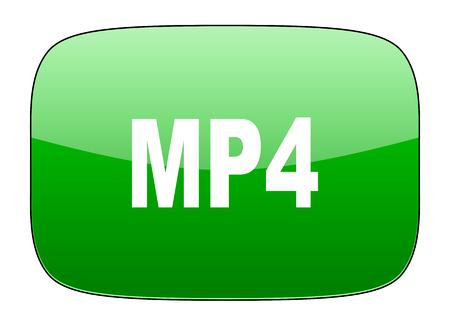 mp4: mp4 green icon