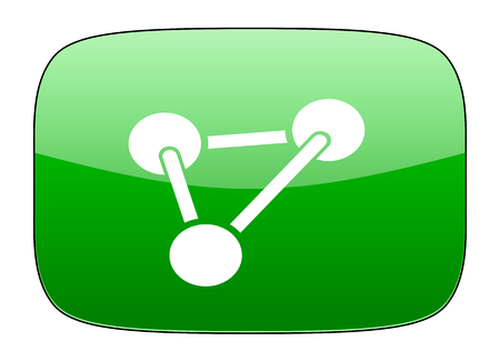 green chemistry: chemistry green icon molecule sign