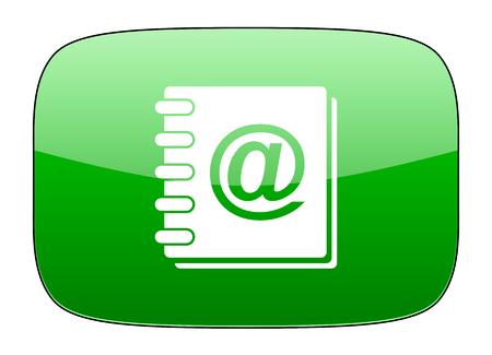 address book: address book green icon