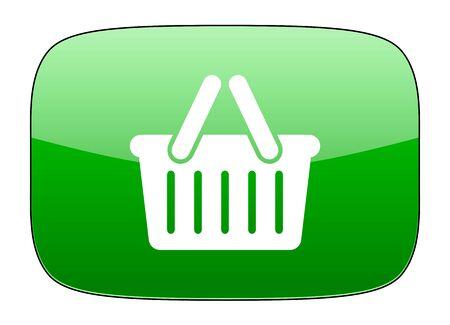 shopping cart icon: cart green icon shopping cart symbol Stock Photo