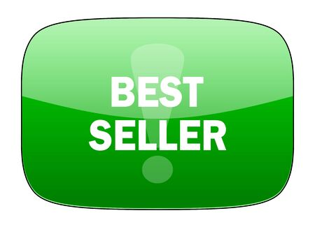 the seller: best seller green icon